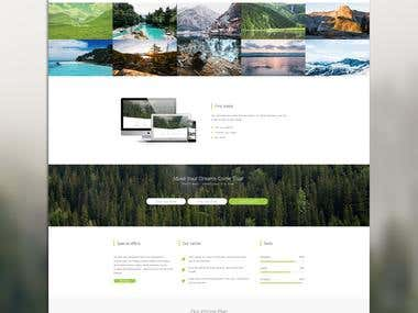 Tha main page design for the travel agency