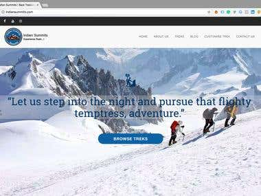 Indian Summits - Website Redesign