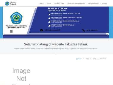 Making Faculty Website of Subang University with Joomla