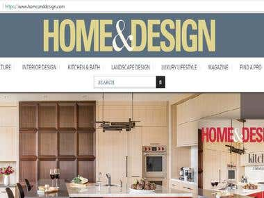 Home & Design Magazine Website