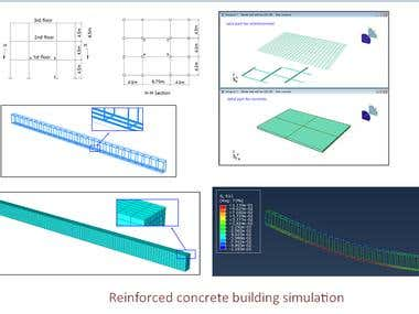 RC concrete structures(Hand, FEA, Article writing)