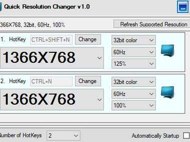 Hot Keys Resolution Changer