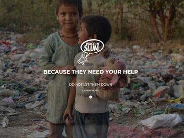 Voice Of Slum Website Development Project