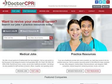 DoctorCPR.com - Classified site for medical community