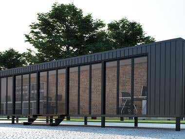 Container Project design and renderings