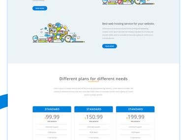 Hosting Company Web PSD Template Design