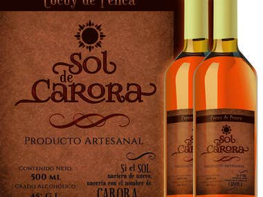 "Etiqueta Licor ""Sol de Carora"""