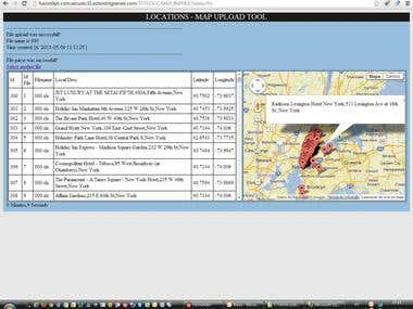 Import Excel file to Google map