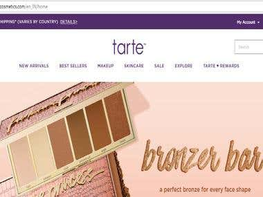 Cosmetics products selling Website
