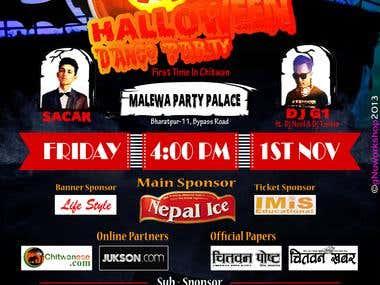 HALLOWEEN DANCE PARTY (flyer/ticket)
