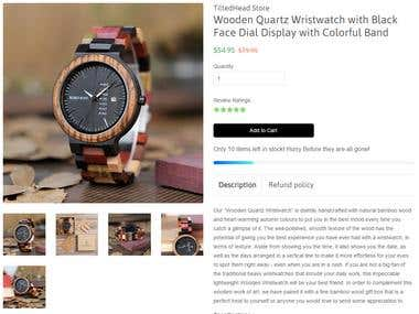 Product Description - Wristwatch
