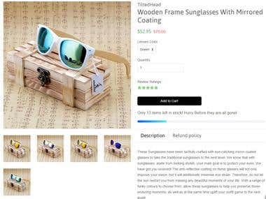 Product Description - Sunglasses
