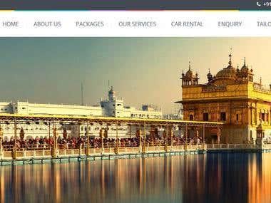 Travel agency wesite