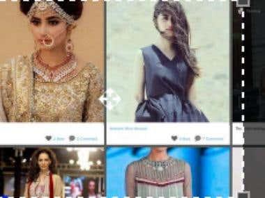 Website based on instagram feeds