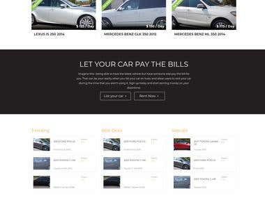 Car Rental Website - Kuso.ca
