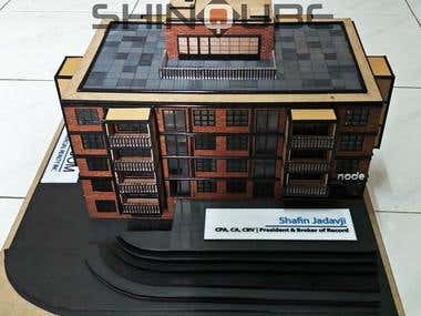 Apartment architectural model