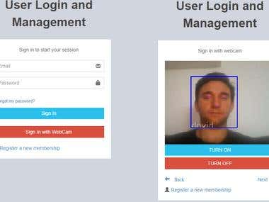 Face Recognition Login/Register System