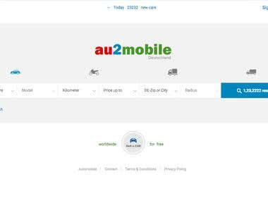 Classified website for vehicles