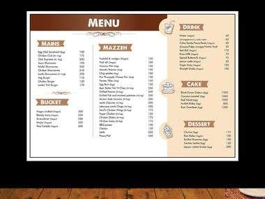 Logo & Menu Card Design (Branding)