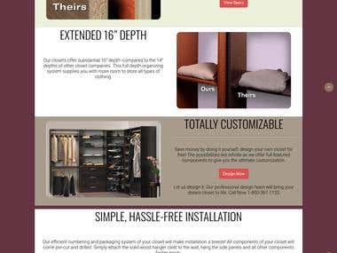 Closet Builder website