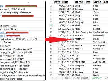 Excel Data Parsing