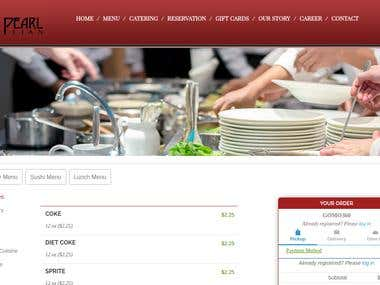 Hotel website with sticky menu -