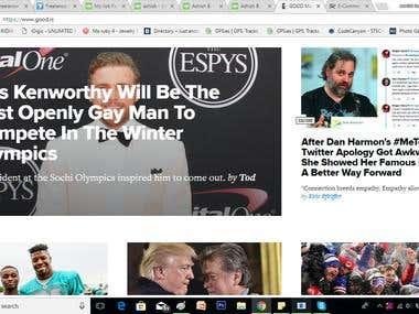 news and magazine portal