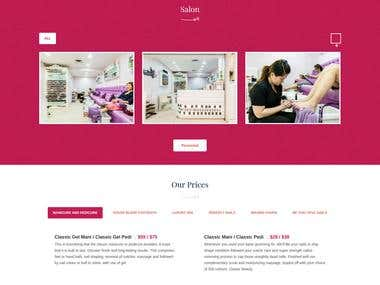 Beauty Parlor website - Wordpress