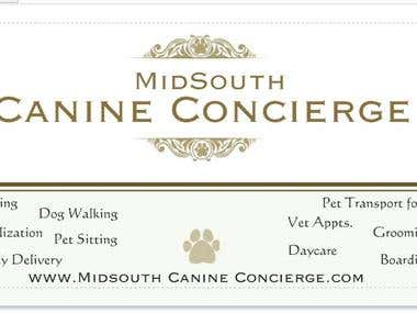 Logo and Business Card for Pet Services