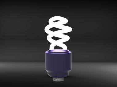 Modern electric bulb design and rendering