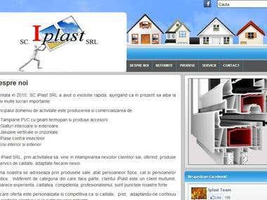 iPlast - Website design