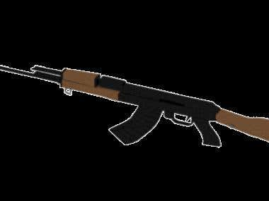 3dmodel of a rifle