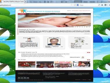Balgopal Hospital Website (CMS Application)