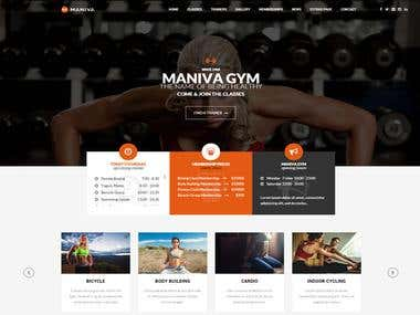 I Will Design the Professional Modern Gym and Yoga Website