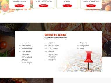 Responsive Site for Restaurant