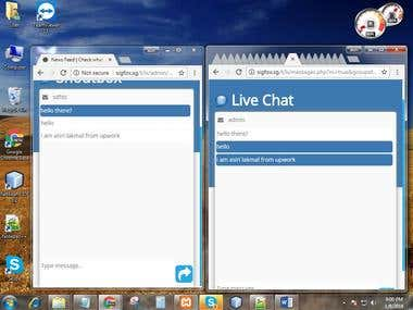 live chat app for customers and agent