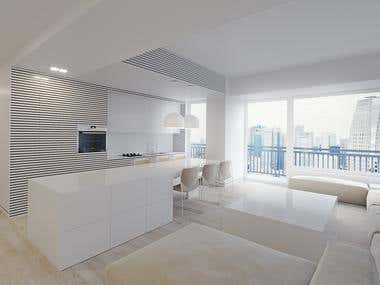 3D realistic visualization of kitchen