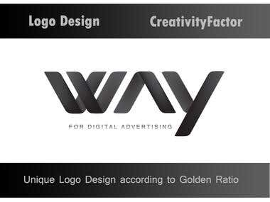Way for D.A Logo design according to Golden Ratio