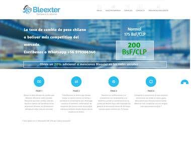 One page website for Bleexter