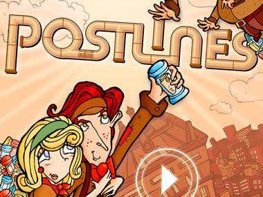 PostLines - Application Design & Cut-Scene animation