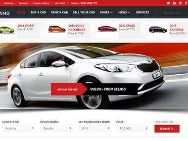 I Will Design the Professional Car Website
