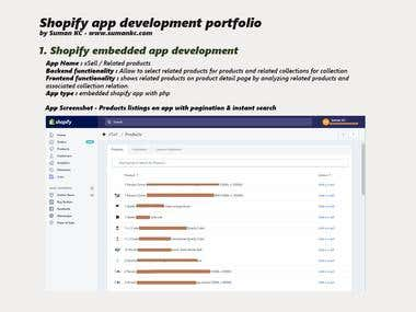Shopify embedded app development