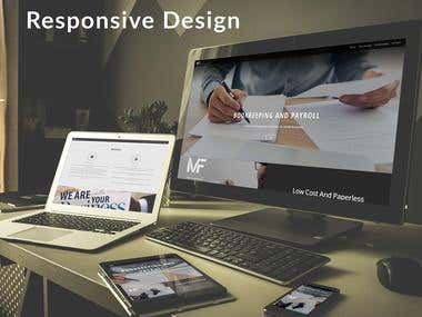 Logo design and web design for MF Consulting