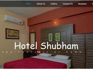 responsive hotel website (http://hotelshubhaminn.com/)