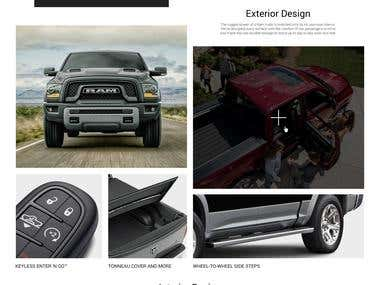 Website Landing Page Design for 2018 RAM 1500 Truck