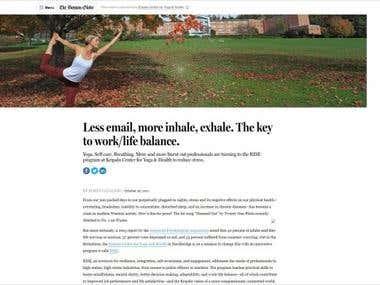 Work Life Balance content