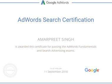 Adwords Search Certification - 2017