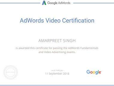 Adwords Video Certification - 2017