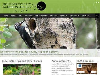 Boulder County Audubon Society Website Design
