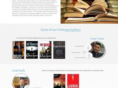 Online Books Sales Website concept